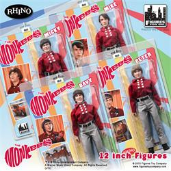 The Monkees Retro 12 Inch Action Figures