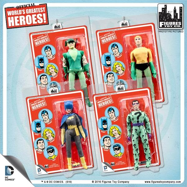 DC Comics Retro 8 Inch Red Card Variant Action Figures: Set