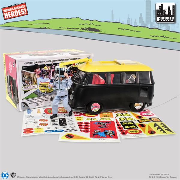 DC Comics Bus Playset for 8 Inch Retro Figures: Batlab With