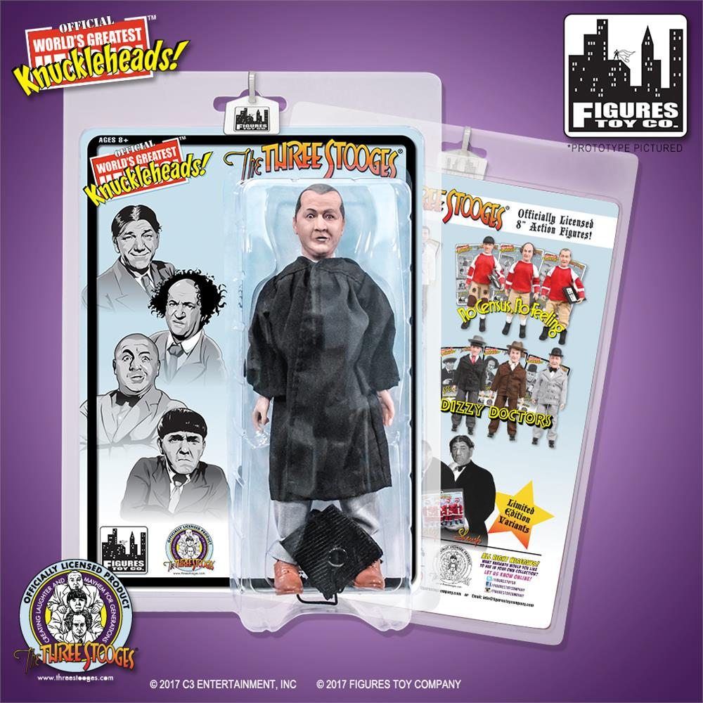 The Three Stooges 8 Inch Action Figures Graduation Curly