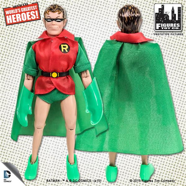 DC Comics Retro Style 8 Inch Figures First Apperances Series Robin yellow Cape