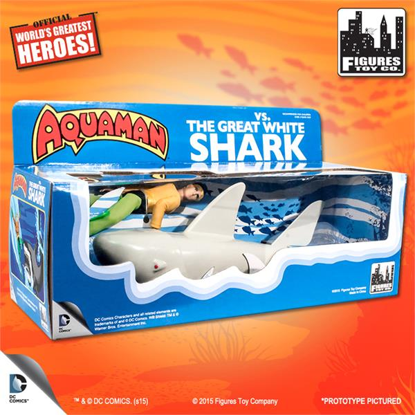 Shark Toy Box : Aquaman vs the great white shark playset