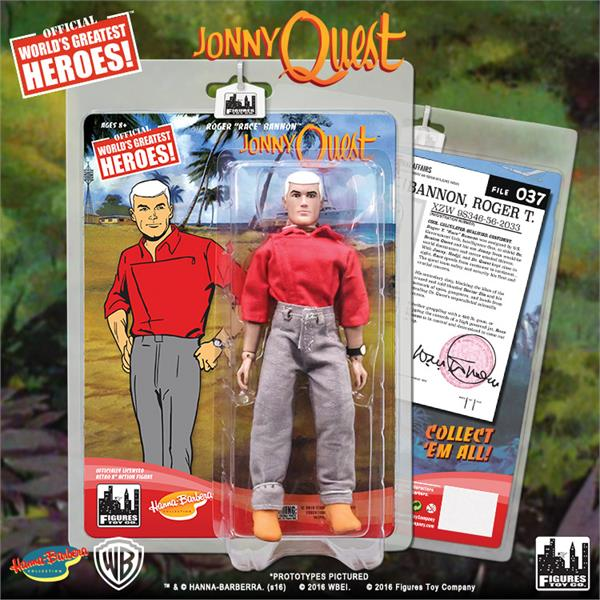 Roger Race Bannon Figures Toy Company Johnny Quest Série Hanna Barbera 1 Figure
