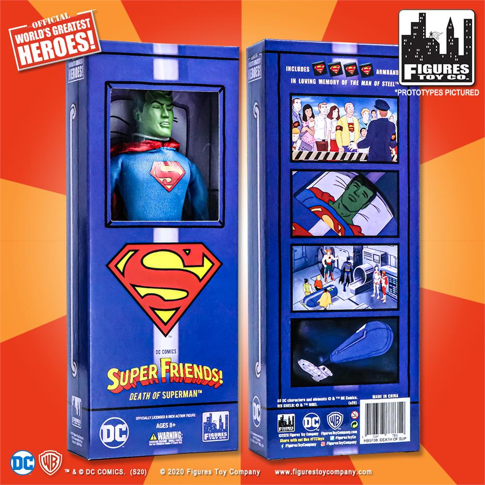 Death of Superman Boxed Variant Super Friends Action Figures Series