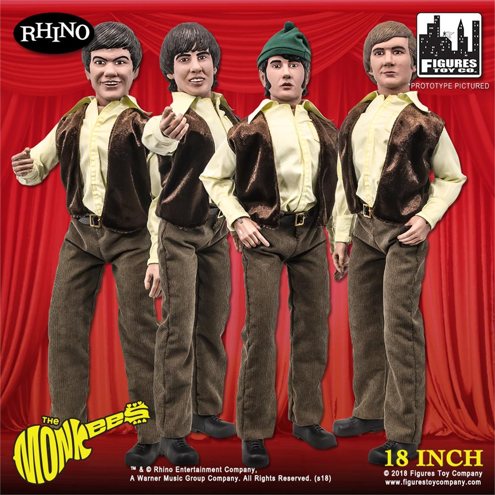 LOOSE The Monkees 18 Inch Action Figures Series Set of all 4