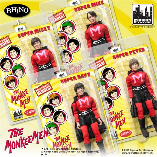 LOOSE Set of all 4 The Monkees 18 Inch Action Figures Series