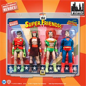 super friends 8 inch retro action figures four pack series robin