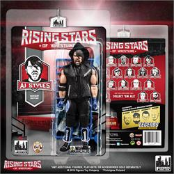 8a0cb9aa0bf3 Rising Stars of Wrestling Series  AJ Styles Black Blue Outfit Action Figure